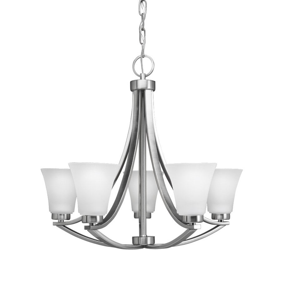 Portfolio 5-Light Lyndsay Satin Nickel Chandelier