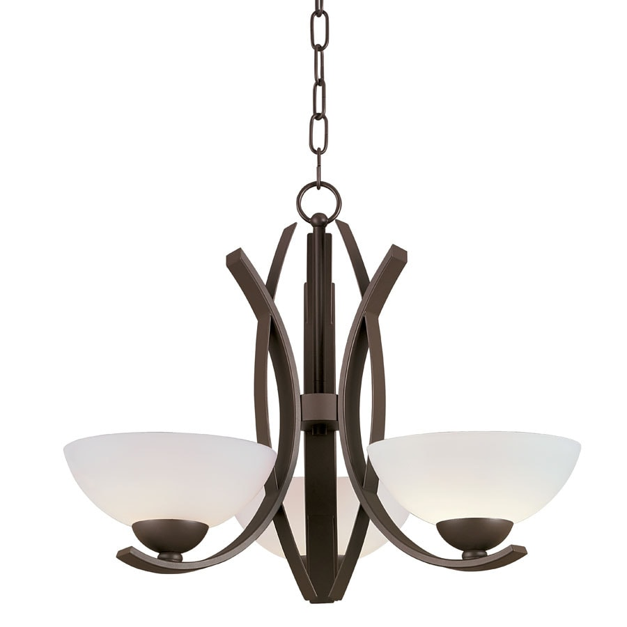 Portfolio 3-Light Lebach Aged Bronze Chandelier