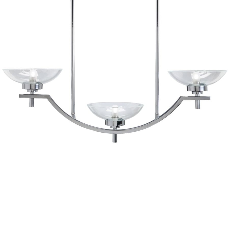 Westwood Collection 20.32-in W 3-Light Chrome Contemporary/Modern Standard Kitchen Island Light with Clear Shade