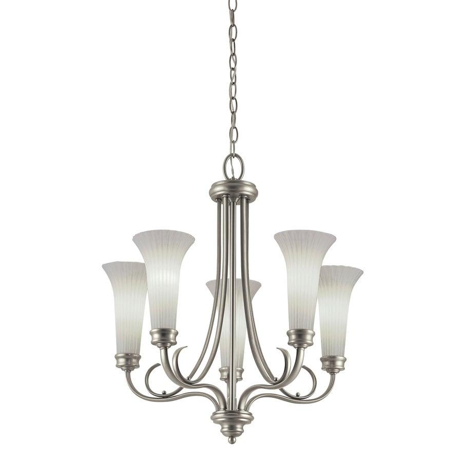 Shop portfolio 5 light antique pewter chandelier at lowes portfolio 5 light antique pewter chandelier arubaitofo Choice Image