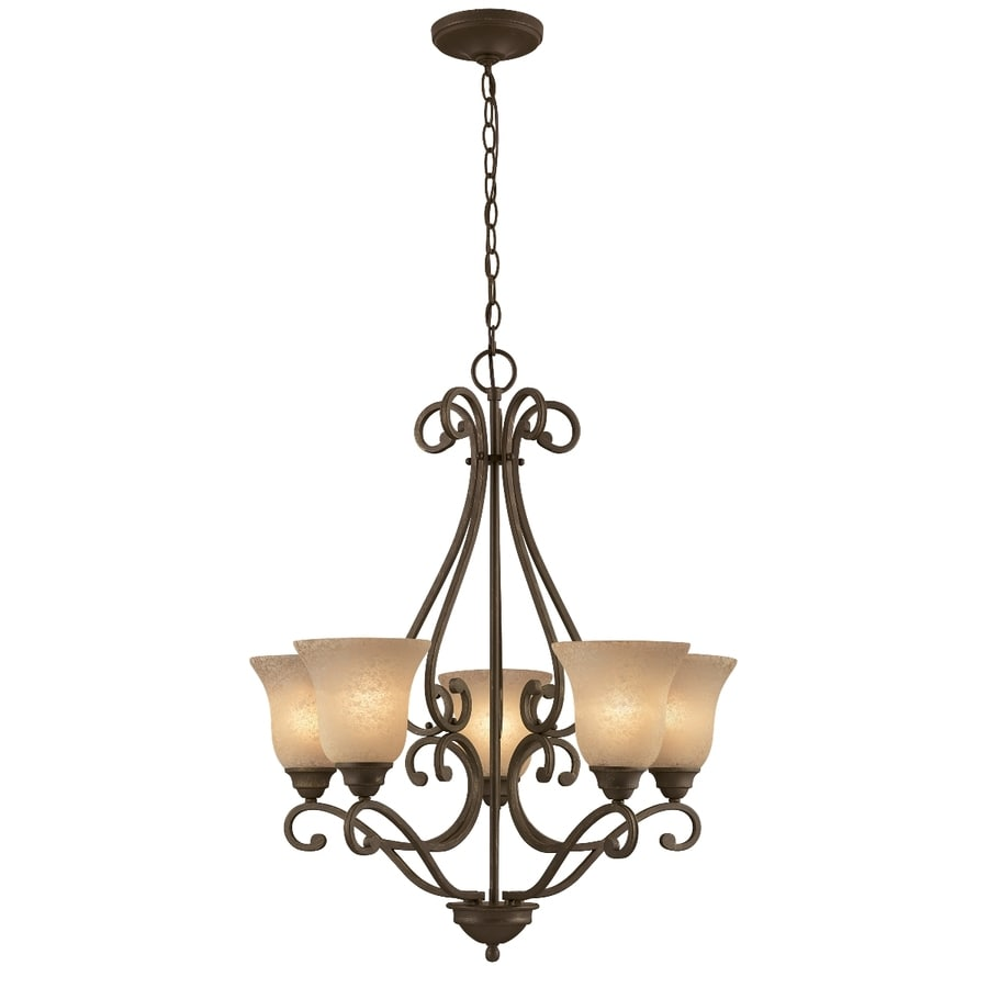 Shop Portfolio Linkhorn 27 In 5 Light Iron Stone Wrought
