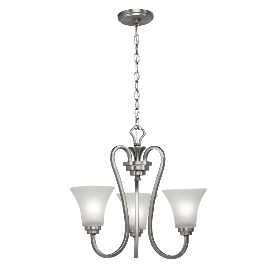 Portfolio 3 Light Guilderland Brushed Nickel Chandelier