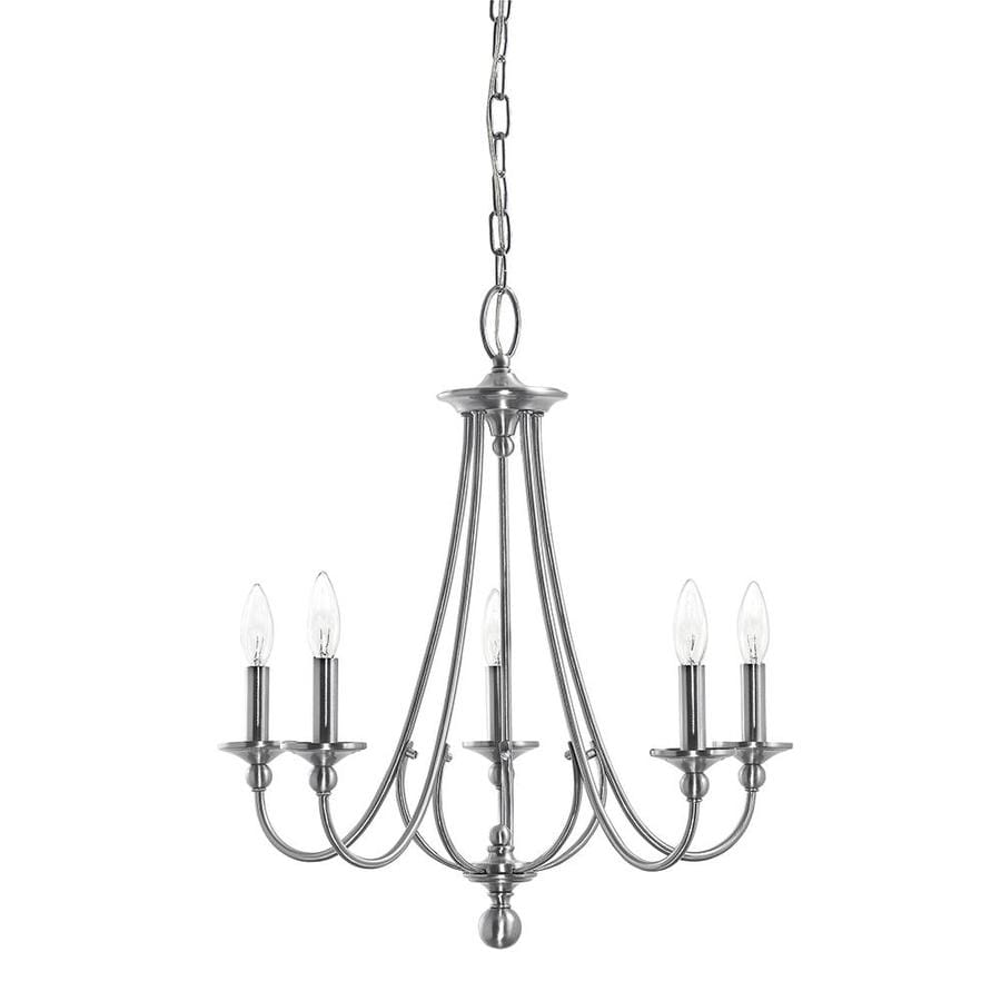 Kichler Camella 21.77-in 5-Light Brushed nickel Williamsburg Candle Chandelier