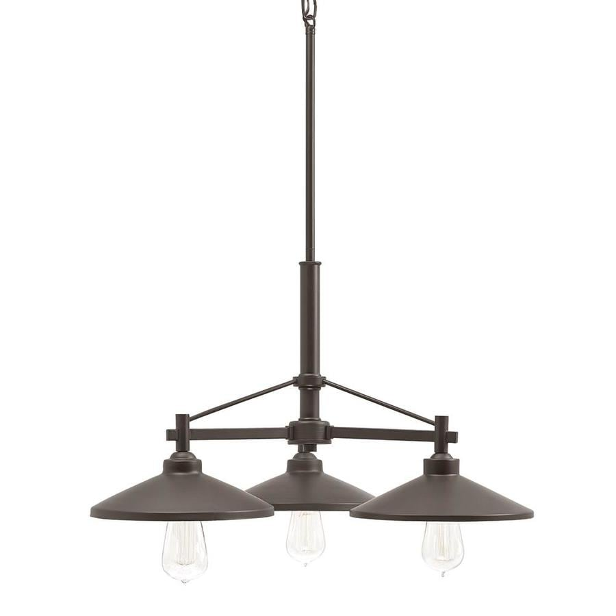 Kichler Covington 25.51-in 3-Light Olde Bronze Barn Shaded Chandelier