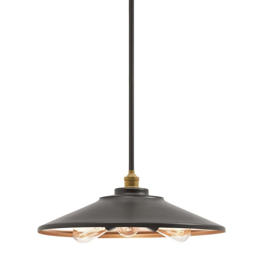 Kichler Covington 17.99-in Olde Bronze Barn Single Cone Pendant