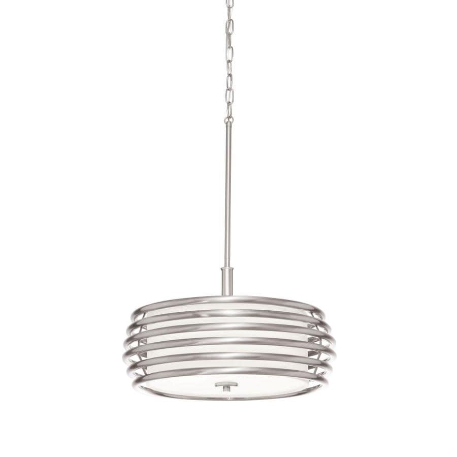 drum lighting lowes. kichler bands 17.99-in brushed nickel single drum pendant lighting lowes l