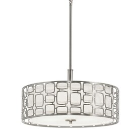 drum lighting lowes. kichler sabine 18-in art deco single etched glass drum pendant lighting lowes a