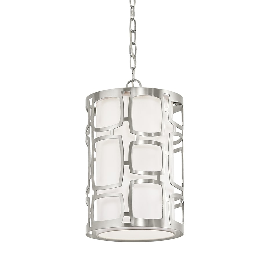 Kichler Sabine 10-in Brushed Nickel Art Deco Hardwired Single Cylinder Pendant
