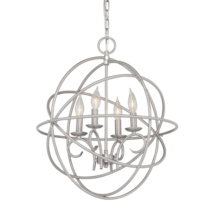 Kichler Vivian 19.02-in 4-Light Brushed Nickel Globe Chandelier