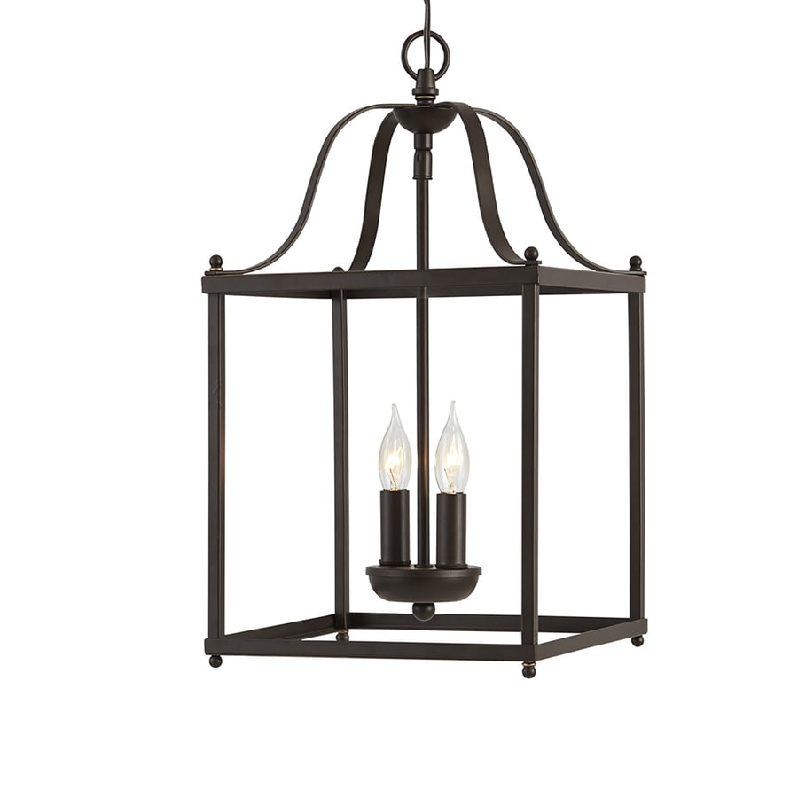 allen + roth Collinwick 10-in Specialty Bronze Country Cottage Single Cage Pendant
