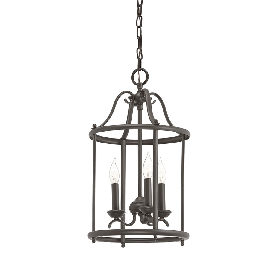 Kichler Menlo Park 12.01 In Olde Bronze Wrought Iron Single Cage Pendant