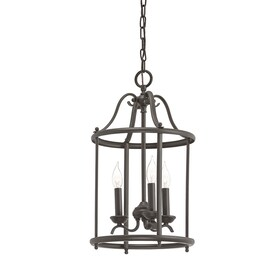 Kichler Menlo Park 12.01-in Olde Bronze Wrought Iron Single Cage Pendant