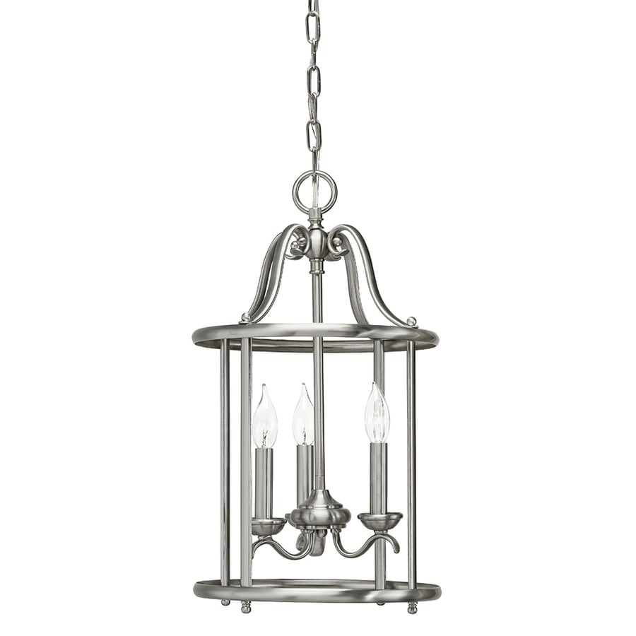 kichler menlo park 1201in brushed nickel wrought iron single cage pendant