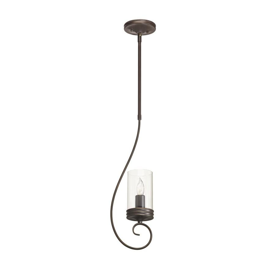 Shop kichler diana 642 in olde bronze wrought iron mini clear glass kichler diana 642 in olde bronze wrought iron mini clear glass cylinder pendant aloadofball Images