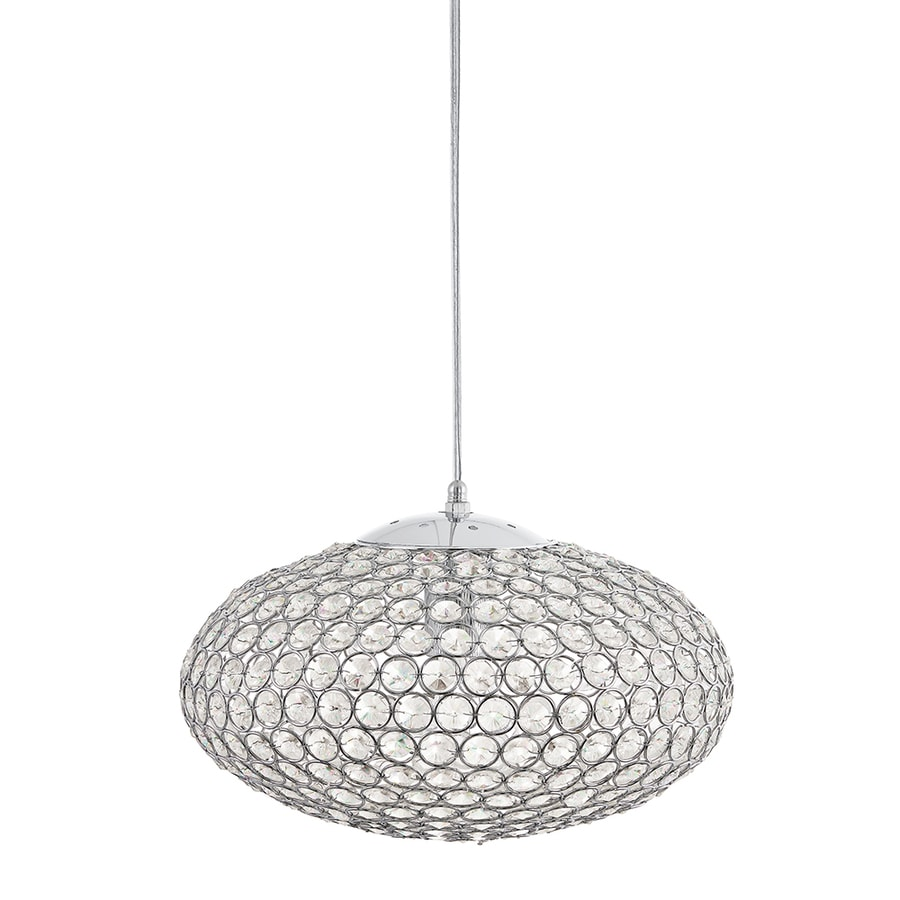 Kichler Lighting Krystal Ice 13.78-in Chrome Single Crystal Oval Pendant