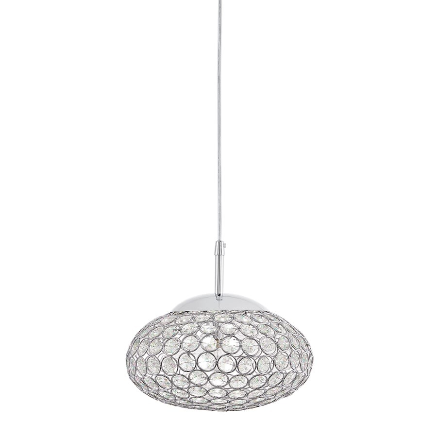Shop kichler krystal ice 965 in chrome hardwired mini crystal oval kichler krystal ice 965 in chrome hardwired mini crystal oval halogen pendant mozeypictures Gallery