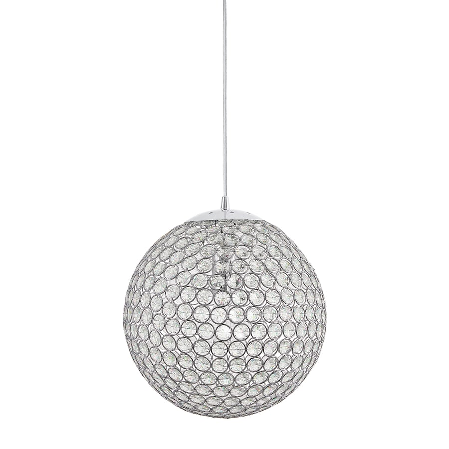 shop globe pendant lighting at lowescom - kichler krystal ice single crystal globe pendant