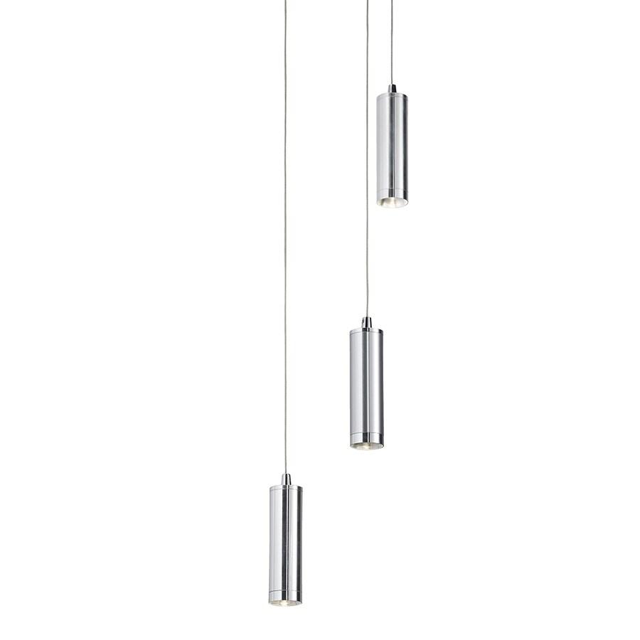 Kichler Lighting Electrike 7.87-in Chrome Industrial Multi-Light Cylinder Pendant