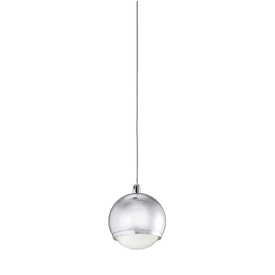 Kichler Lighting Glisten 3.91-in Chrome Mini Clear Glass Globe Pendant