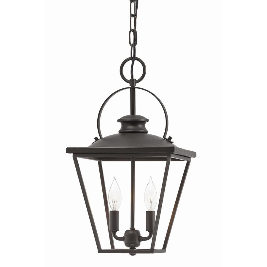 Kichler Arena Cove 10-in Olde Bronze Country Cottage Single Cage Pendant