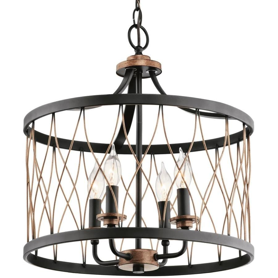 Shop Kichler Lighting Brookglen 15.98-in Black With Gold