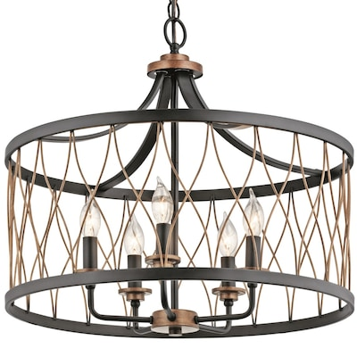 Kichler Brookglen Black with Gold Tone Single French Country