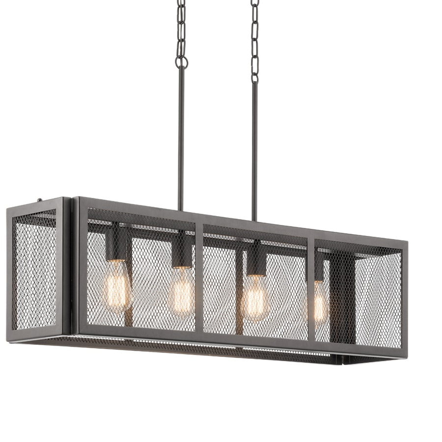 Kichler saybridge 36 in bronze industrial hardwired linear cage pendant