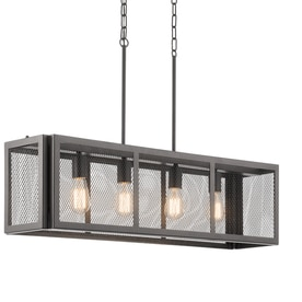 kichler lighting saybridge bronze industrial single cage pendant cage pendant lighting