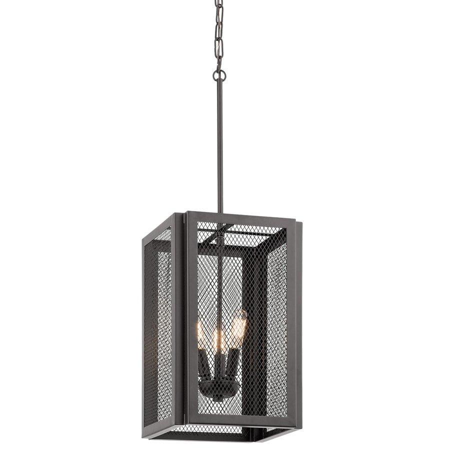 Kichler Saybridge 10.04-in Bronze Industrial Single Cage Pendant