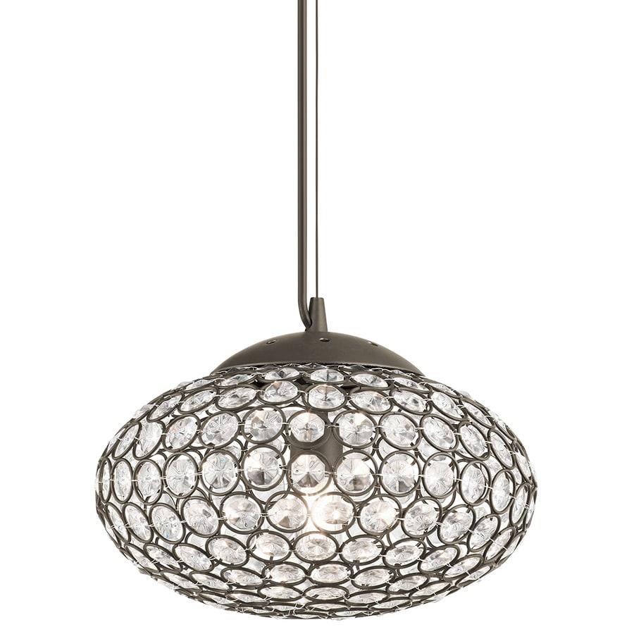 Kichler Lighting Krystal Ice 9.65-in Olde Bronze Mini Crystal Oval Pendant