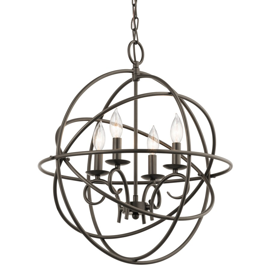 Kichler Vivian 19.02-in 4-Light Olde Bronze Globe Chandelier