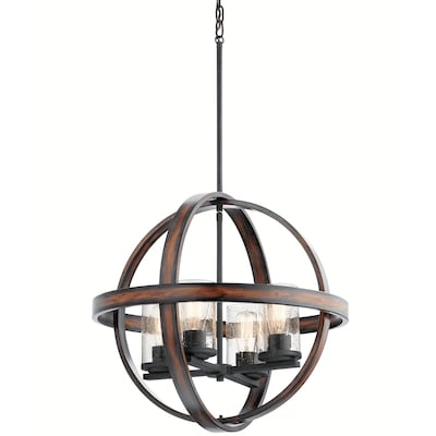 Kichler Barrington Distressed Black and Wood Tone Single