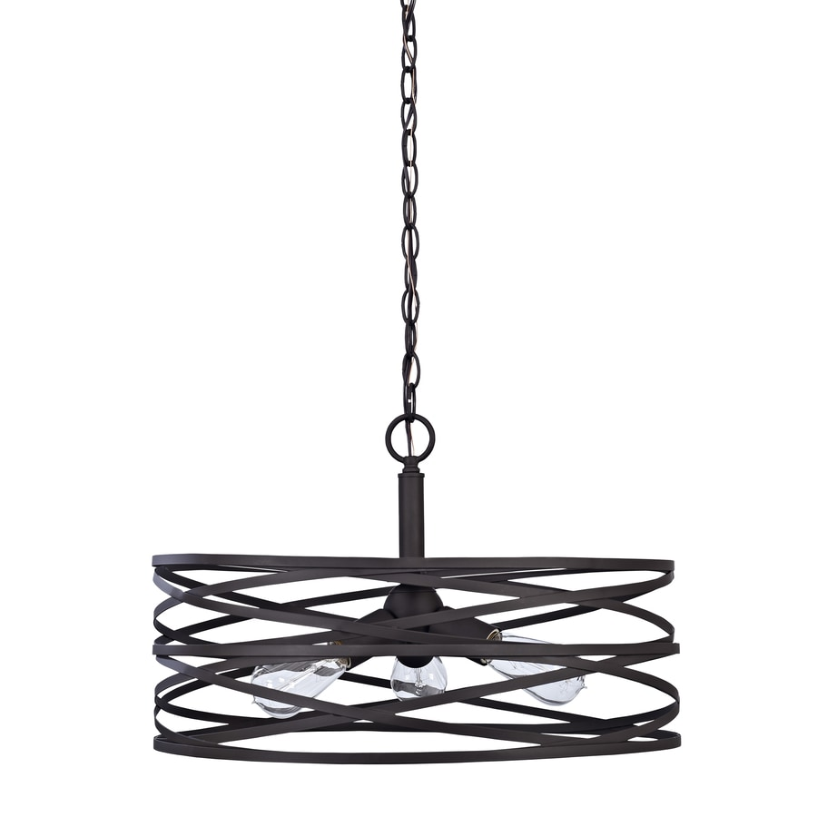 Shop pendant lighting at lowes allen roth winship 20 in bronze art deco single cylinder pendant mozeypictures