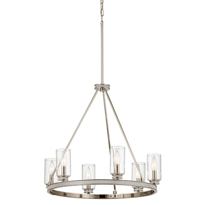 Kichler Angelica 6 Light Polished Nickel With Glass Accents