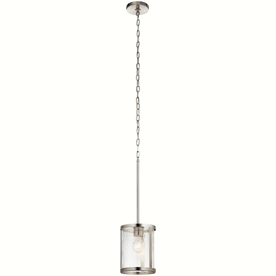 Kichler Marita 7 In Brushed Nickel Hardwired Mini Clear Gl Cylinder Pendant