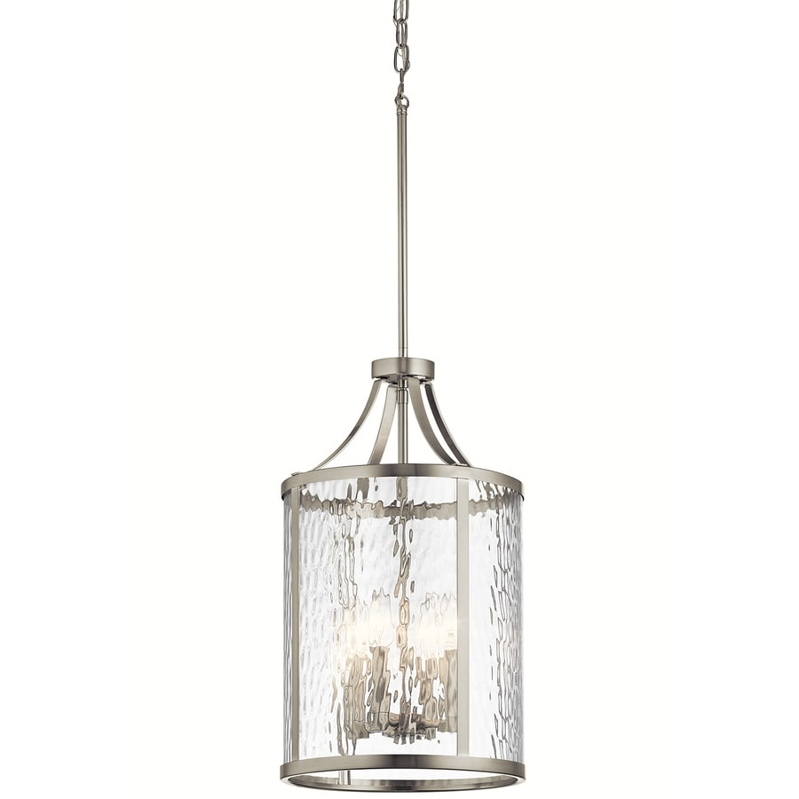 Shop kichler marita 12 in brushed nickel industrial hardwired kichler marita 12 in brushed nickel industrial hardwired multi light clear glass cage pendant aloadofball Images