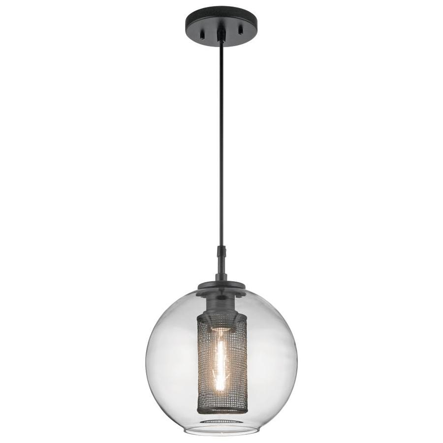 Kichler Edmund Satin Black And Brushed Nickel Single Industrial