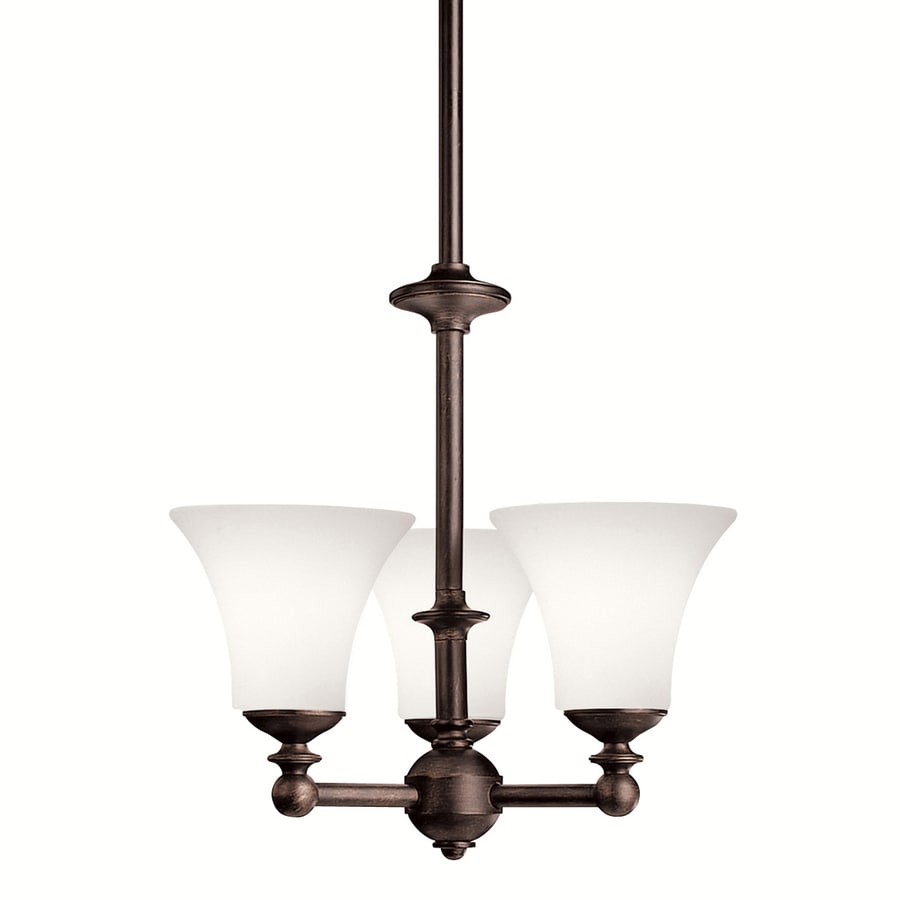 Portfolio Hamden 15-in 3-Light Olde auburn Chandelier