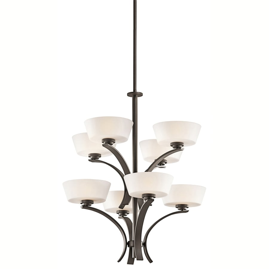 Portfolio Rise 27.25-in 8-Light Olde Bronze Chandelier