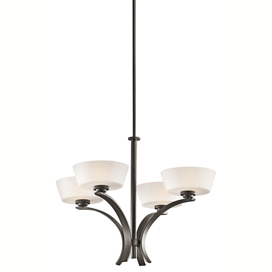 Portfolio Rise 28.5-in 4-Light Olde Bronze Chandelier