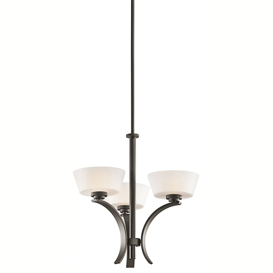 Portfolio Rise 21-in 3-Light Olde Bronze Chandelier