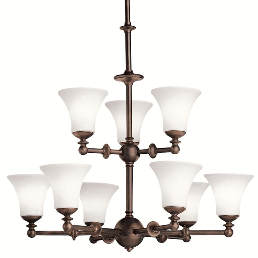Kichler 32.5-in 9-Light Olde Auburn Chandelier