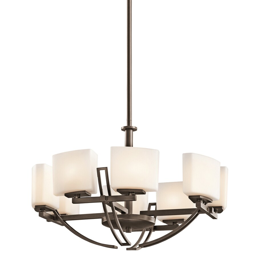 Shop Portfolio Adelaide 8-Light Mission Bronze Chandelier