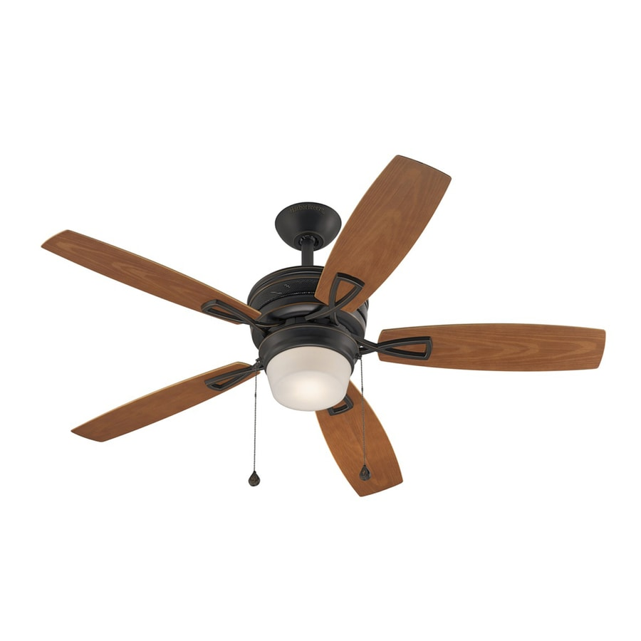Shop Harbor Breeze Melamby 48 In Oil Rubbed Bronze Downrod Mount Indoor Ceiling Fan With Light