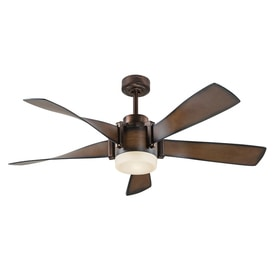 kichler lighting 52 in mediterranean walnut with bronze accents downrod mount indoor ceiling fan with ceiling fan