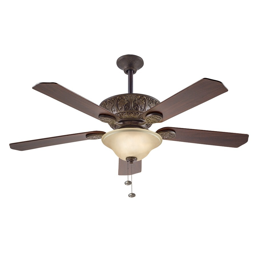 shop kichler lighting 52 in tannery bronze with gold highlights downrod mount indoor ceiling fan. Black Bedroom Furniture Sets. Home Design Ideas