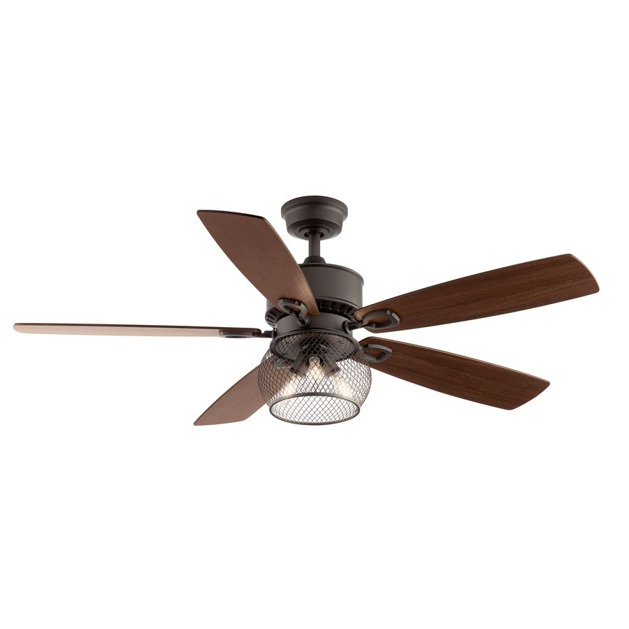 Shop Kichler Clermont 52 In Satin Natural Bronze Indoor
