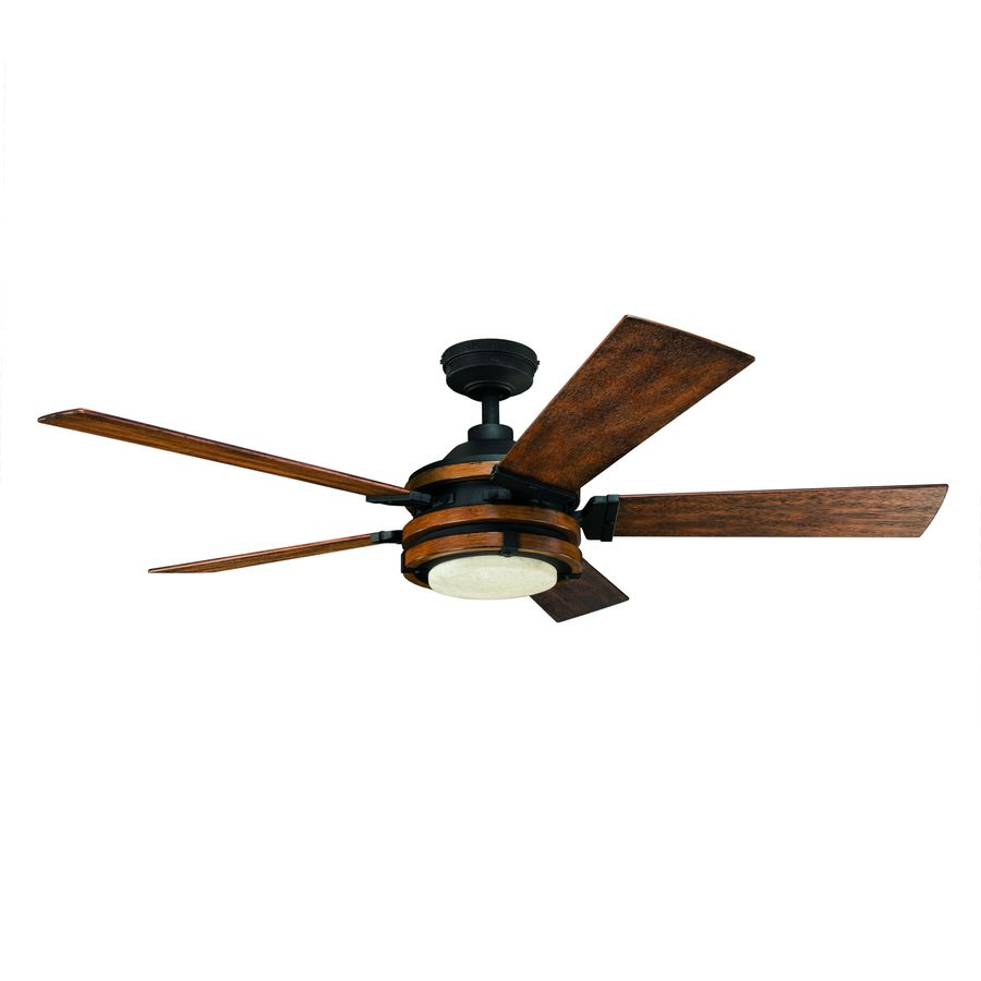 kichler barrington 52 in antique black led indoor ceiling fan with Ceiling Fan Replacement Parts
