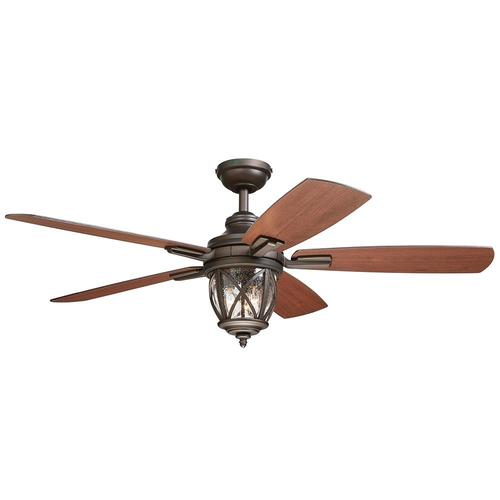 Allen Roth Castine 52 In Oil Rubbed Bronze Led Indoor Outdoor Ceiling Fan With Light Kit And Remote 5 Blade In The Ceiling Fans Department At Lowes Com