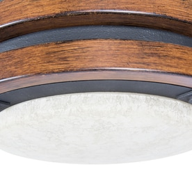 Kichler Barrington 52 In Distressed Black And Wood Indoor